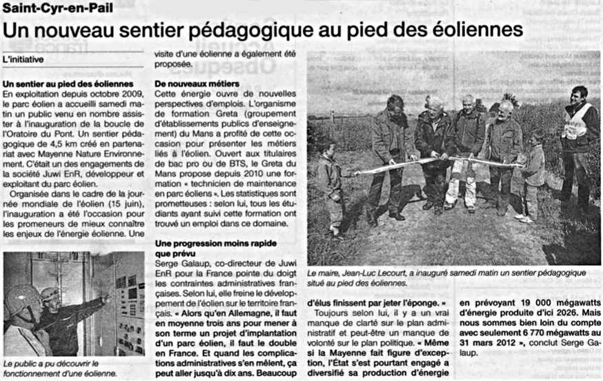 Article Saint Cyr en Pail